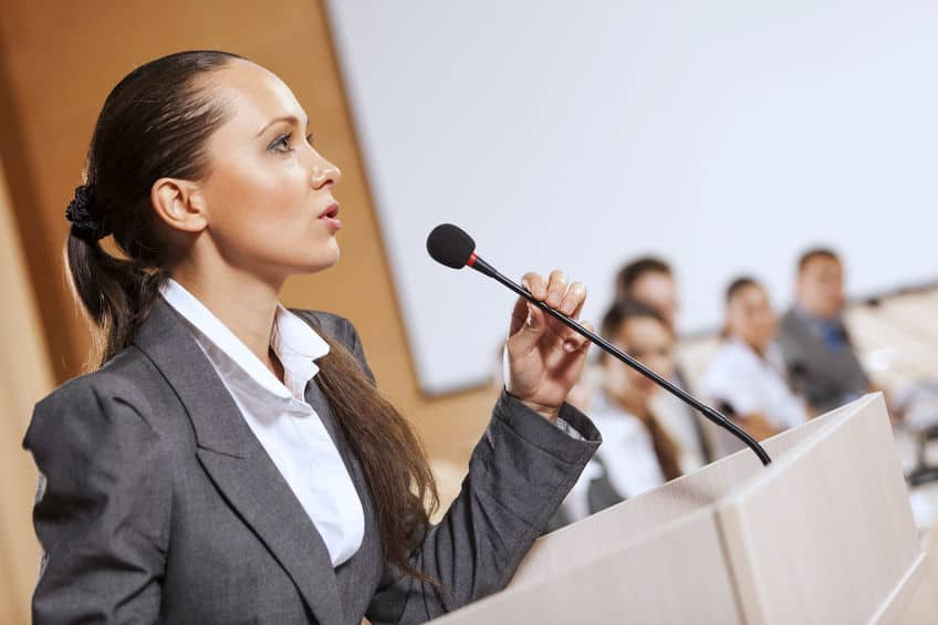 Confident public speaking can be yours - with our five top tips...